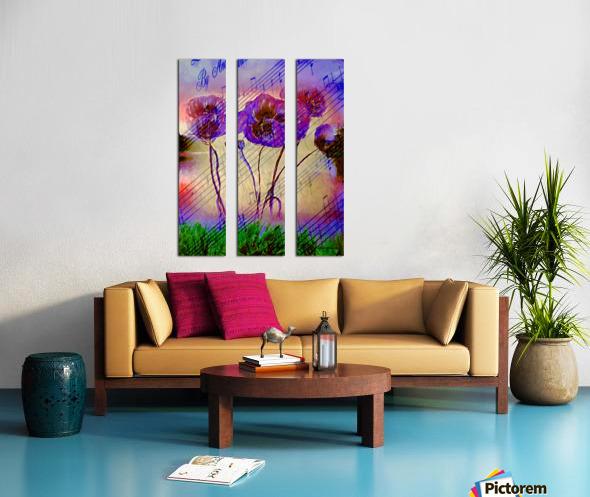 Dancing Flowers Split Canvas print