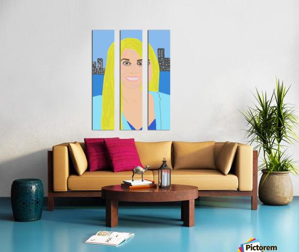 Big Smile Split Canvas print