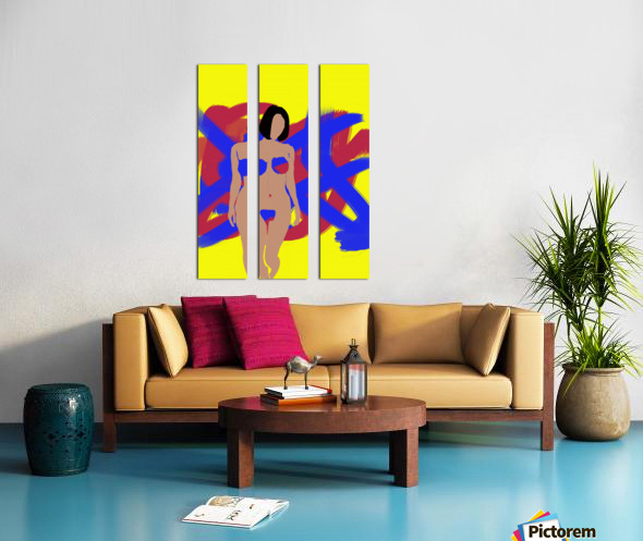 Female Split Canvas print