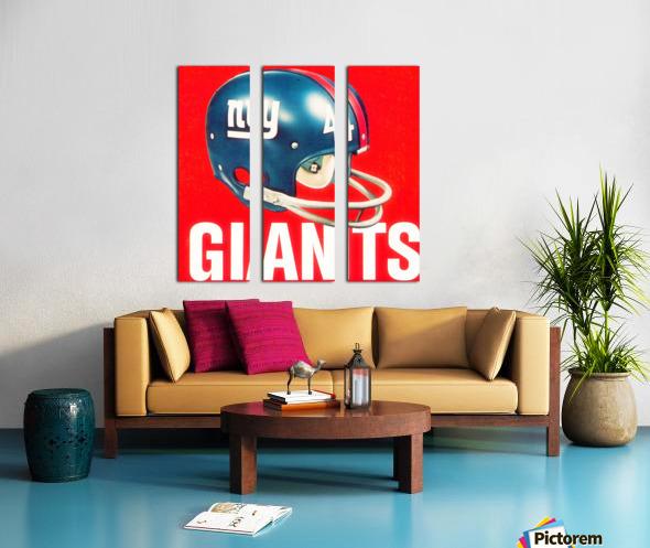 Vintage New York Giants Football Helmet Art Split Canvas print