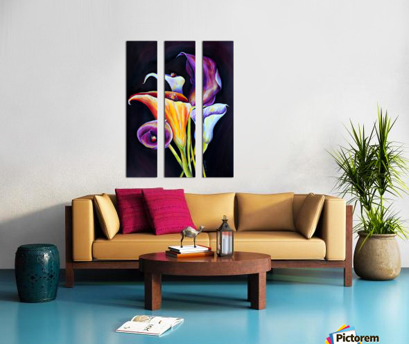 Calla Lilies in Blooming Bouquet Split Canvas print