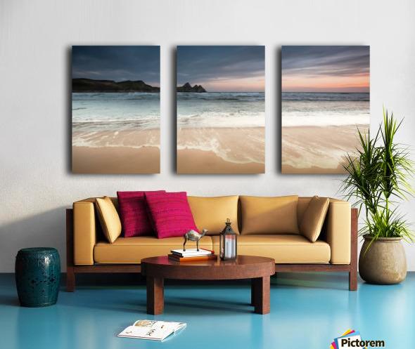 Three Cliffs Bay Swansea Split Canvas print