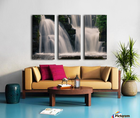 Waterfalls in Penllergare woods Split Canvas print