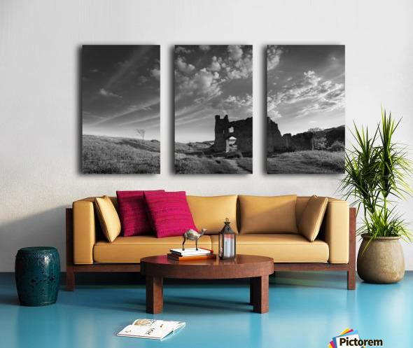 Pennard castle Gower Split Canvas print