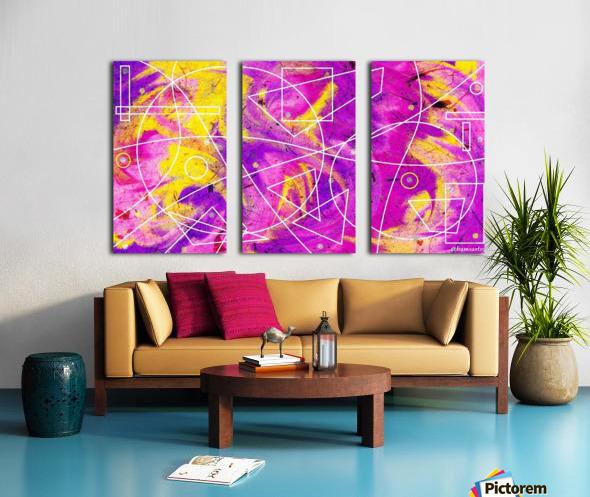 Heart of Fire Split Canvas print