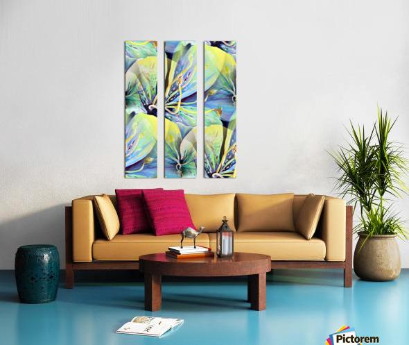 Blooming flowers Seamless Pattern Split Canvas print