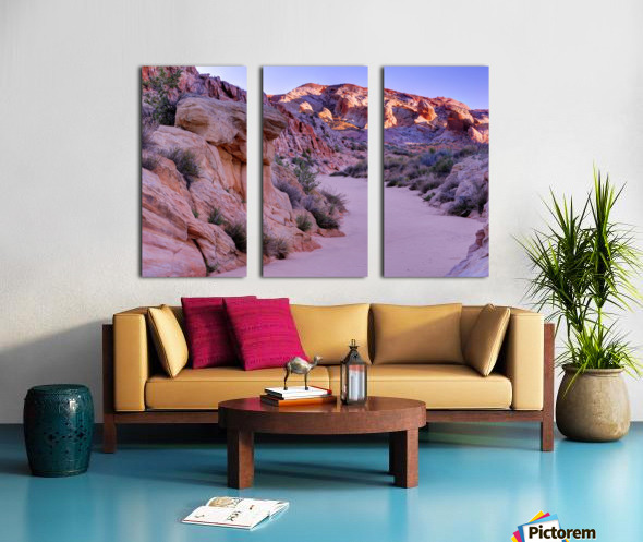 Sunrise over Valley of Fire Wash - Nevada Split Canvas print