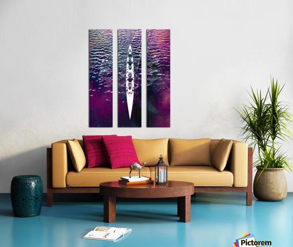 Swimmer sport art  Split Canvas print