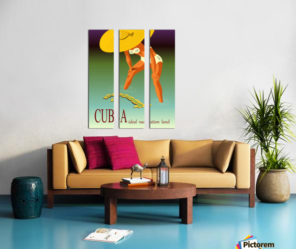 Big Girl over Cuba Split Canvas print