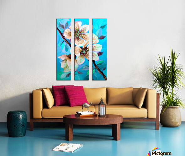 Japanese Sakura Cherry Blossom  Split Canvas print