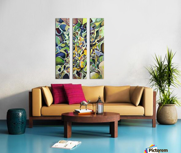 Chaos Theory in Interlacing Style  Split Canvas print