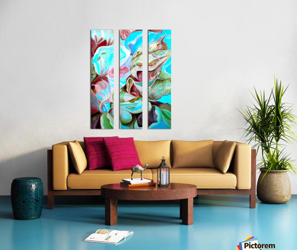 Realm of Tropical Exotic Nature Pattern Split Canvas print