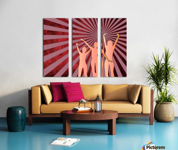 Dancing Girls Split Canvas print