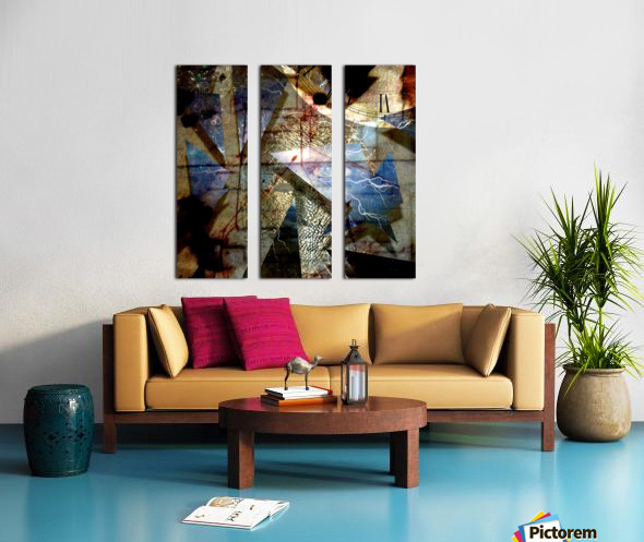 The Shards of Reality Split Canvas print