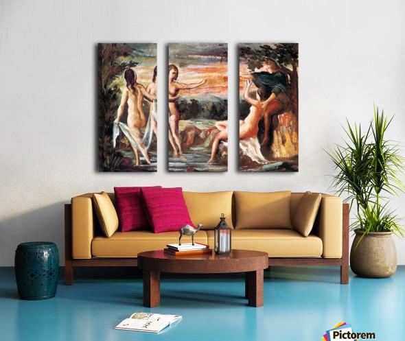 Judgement of Paris by Cezanne Split Canvas print