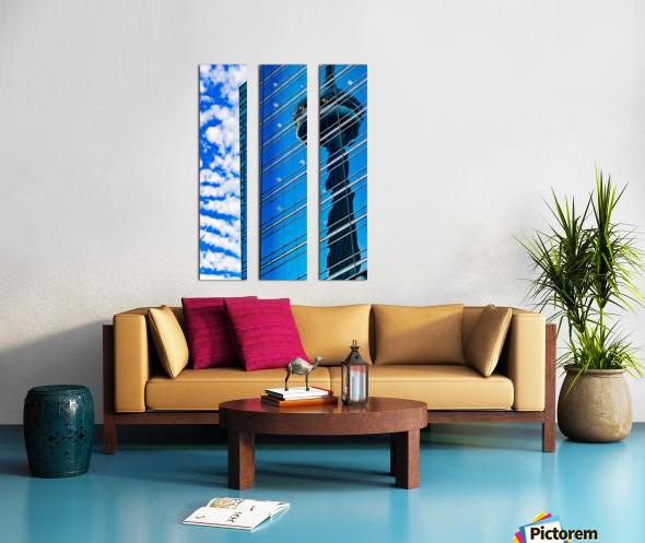 Shimmer In The 6ix Split Canvas print