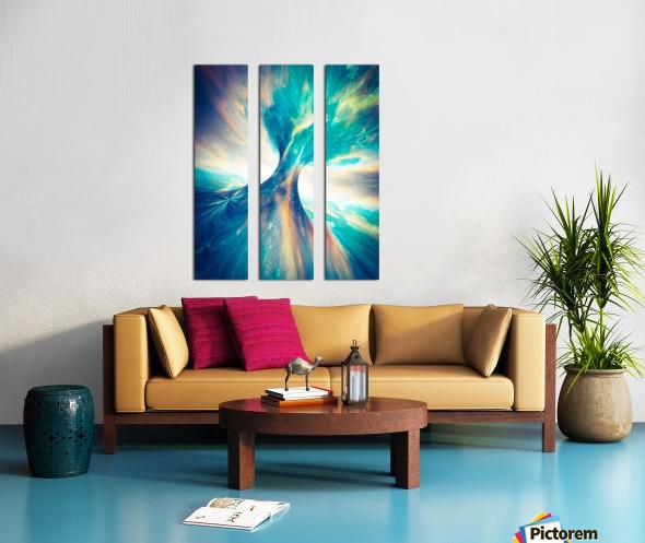 The Crab Nebula Bridge Split Canvas print