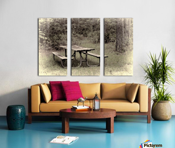 A_Lonely_Table Split Canvas print