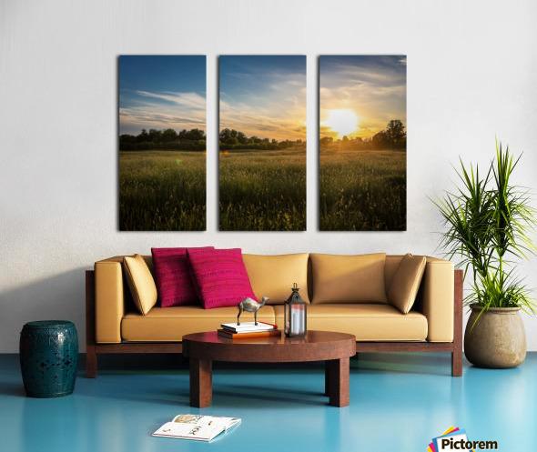 Creekside Sunset 1 Split Canvas print