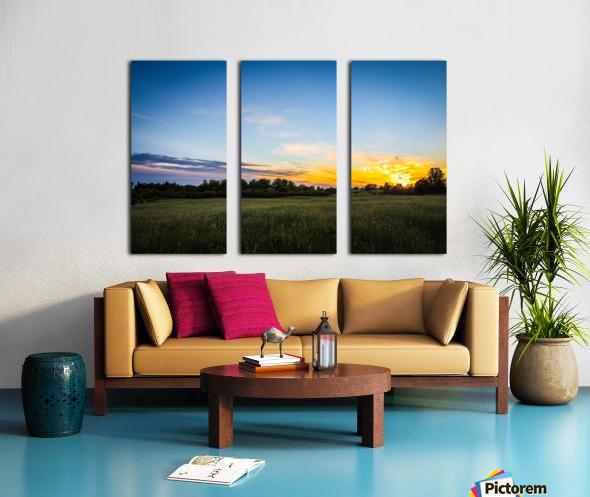 Creekside Sunset 2 Split Canvas print