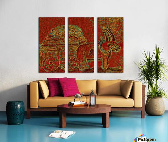 Oxen Split Canvas print