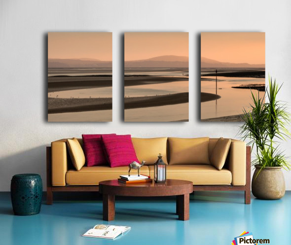 Loughor estuary at dusk Split Canvas print