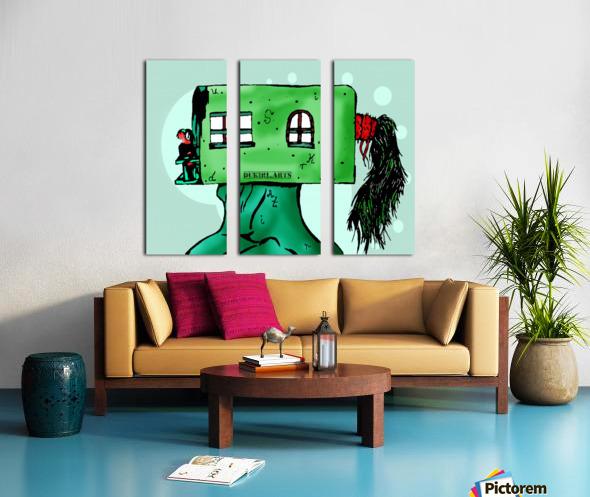 House Man  Split Canvas print