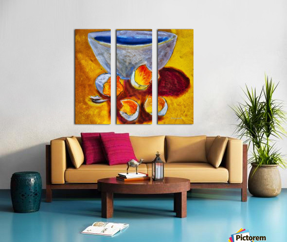 Eggs and a bowl Split Canvas print