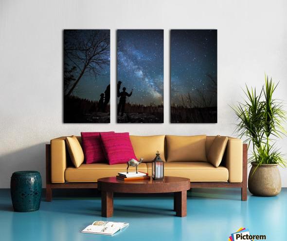 River of Heaven Split Canvas print