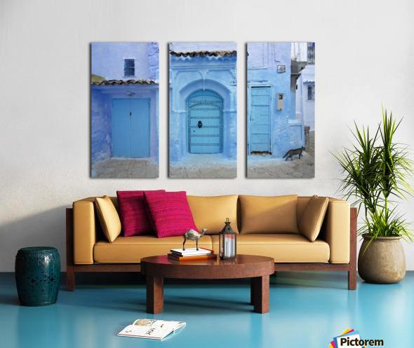 Chefchaouen Medina Morocco Split Canvas print