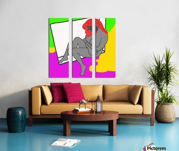 AI Woman Split Canvas print