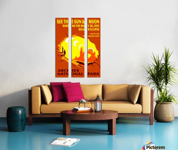 Solar Eclipse Split Canvas print