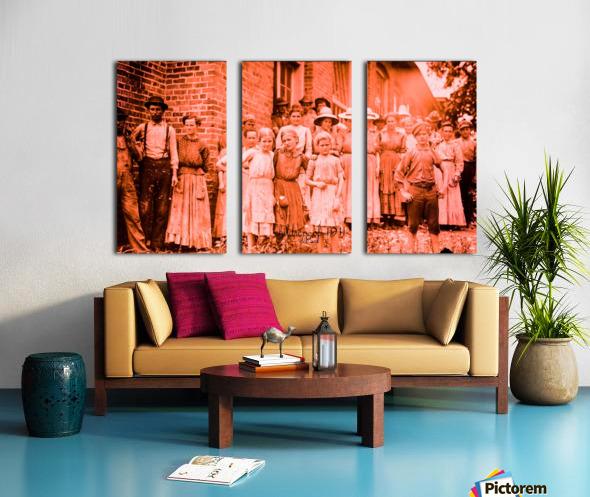 factory workers in 1911 Split Canvas print