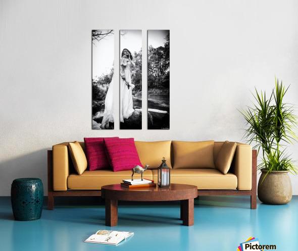 Linquietude dOphelia Split Canvas print