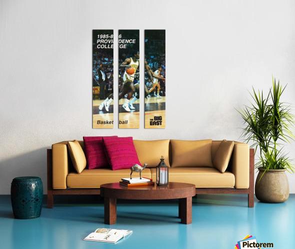 1986 providence basketball poster Split Canvas print