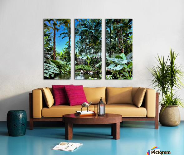 P25 - Small Forest Split Canvas print