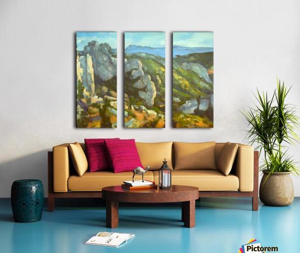 L Estaque by Cezanne Split Canvas print
