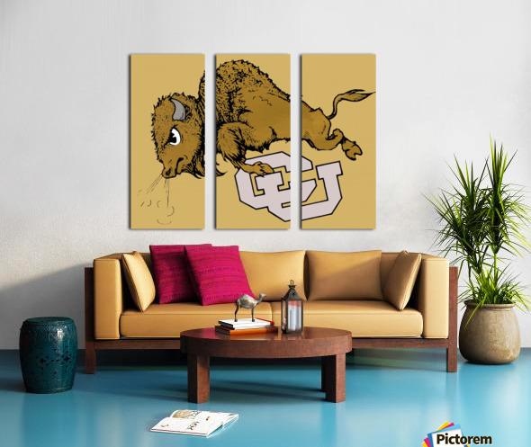 vintage cu colorado buffaloes art Split Canvas print
