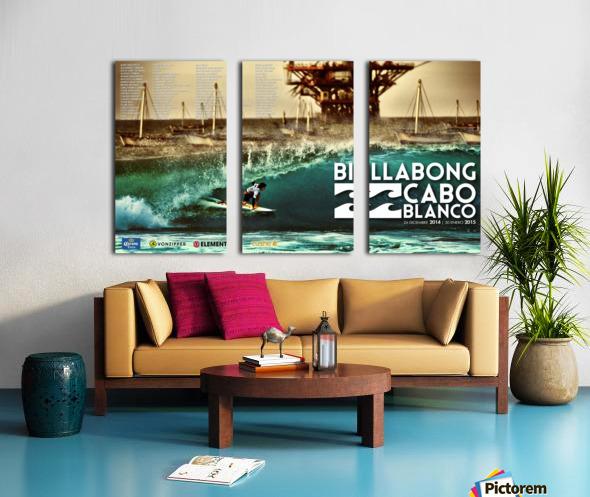 2015 BILLABONG Cabo Blanco Print - Surfing Poster Split Canvas print