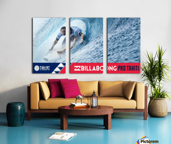 2017 BILLABONG Pro Tahiti Print - Surfing Poster Split Canvas print