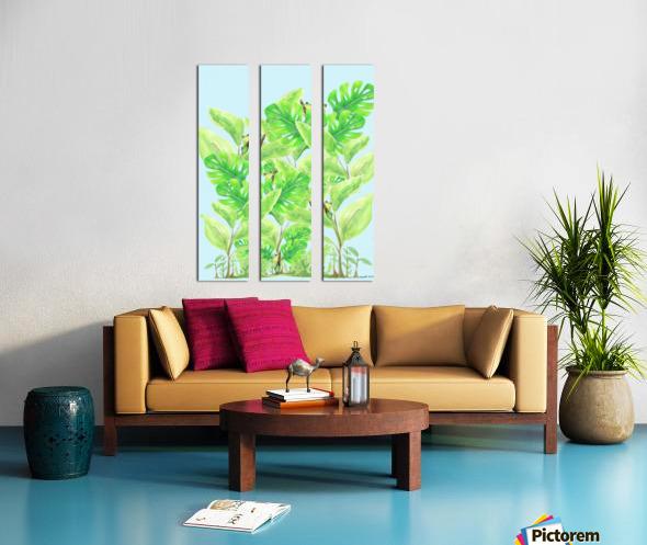 Frog Garden  Split Canvas print
