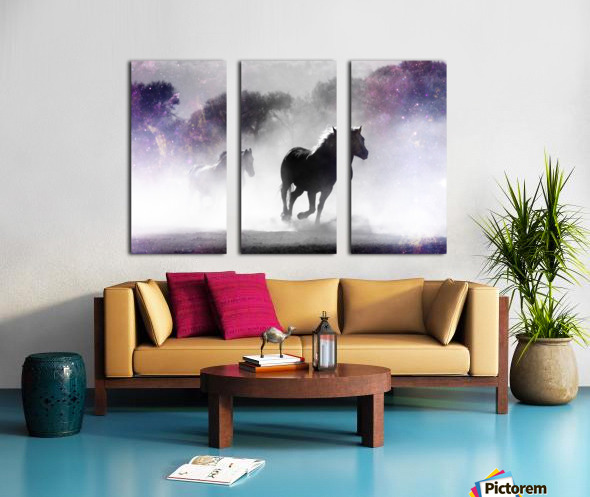 Wild Horses in Nature Split Canvas print
