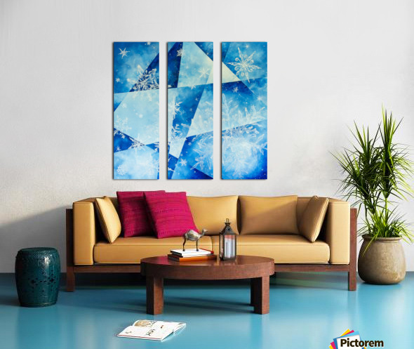 Frosty Split Canvas print