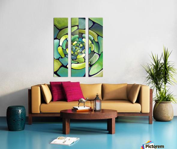 Artdeco Centered Pattern  Split Canvas print