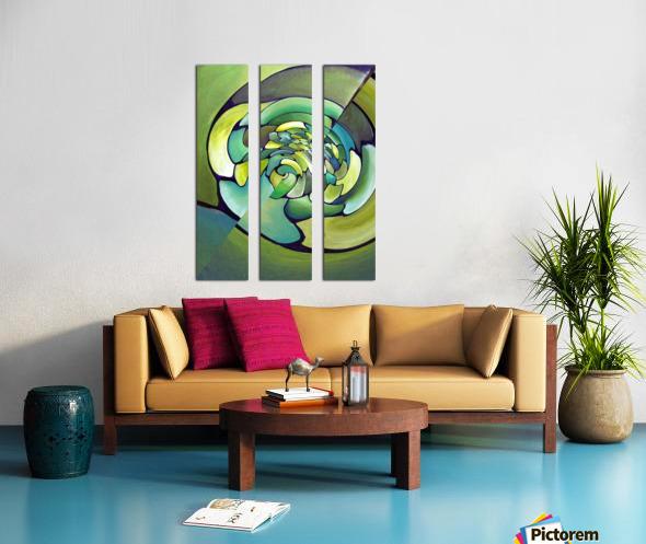 Artdeco Twisted Pattern  Split Canvas print
