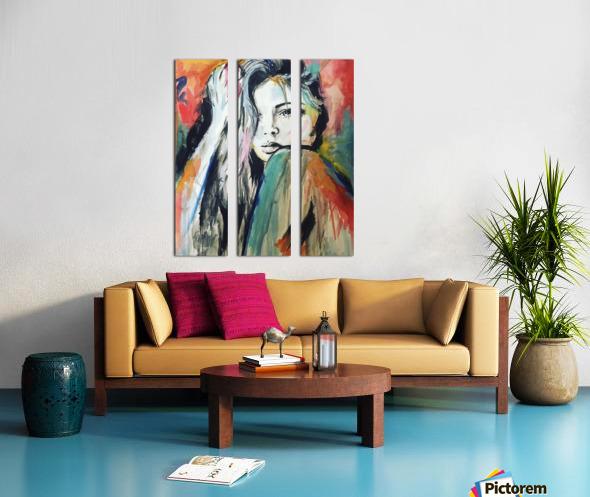 Evangelina Split Canvas print