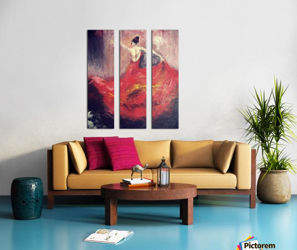 Dancer in Red  Split Canvas print