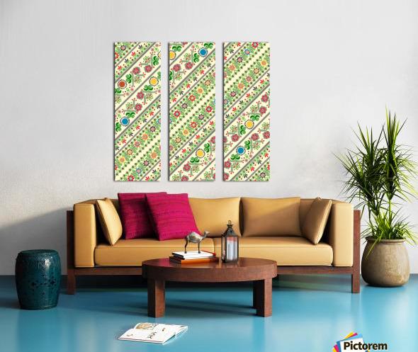 Hungarian seamless pattern  Split Canvas print