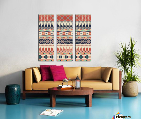 Palestinian embroidery pattern  Split Canvas print