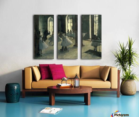 La Repetition au foyer de la danse by Degas Split Canvas print